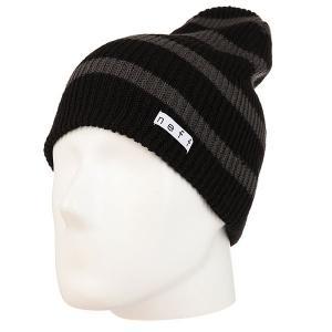 Шапка носок  Daily Stripe Beanie Black/Charcoal Neff. Цвет: черный,серый