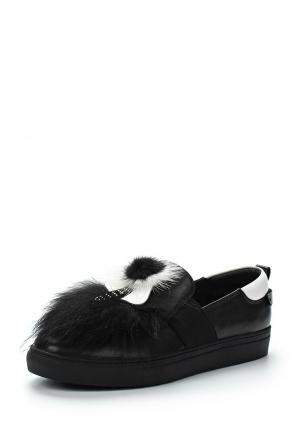Слипоны Just Couture. Цвет: черный