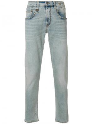 Зауженные джинсы R13. Цвет: синий