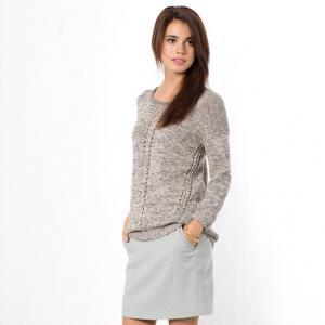 Пуловер с рукавами 3/4 COLOR BLOCK. Цвет: серый
