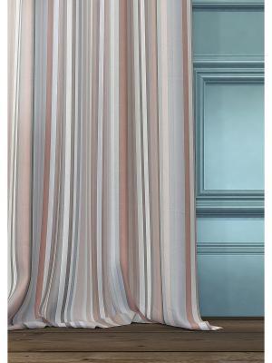 Комплект  штор Эзми ТОМДОМ. Цвет: серый, коричневый, бежевый, черный