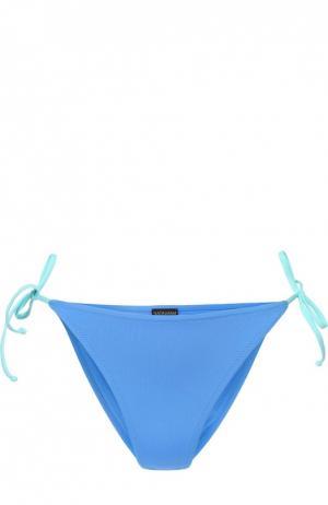 Плавки-бикини с контрастными бантами NATAYAKIM. Цвет: голубой