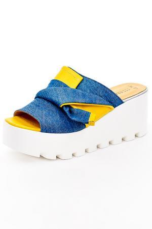 Сабо Grand Style. Цвет: джинса, желтый