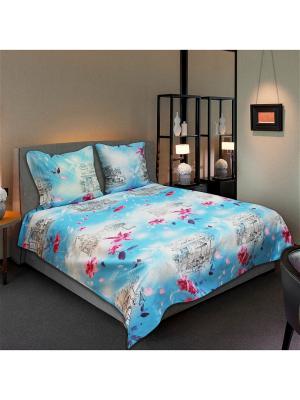 Постельное белье Amore Mio Light 2.0 сп. Цвет: голубой, розовый, белый