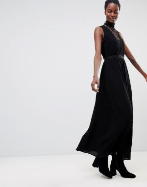 Deby Debo Платье макси с кружевом Sochic. Цвет: черный