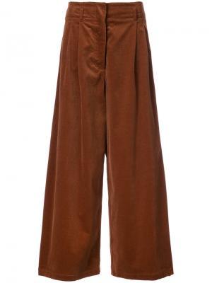 Экстра-широкие брюки-палаццо Vanessa Bruno. Цвет: коричневый
