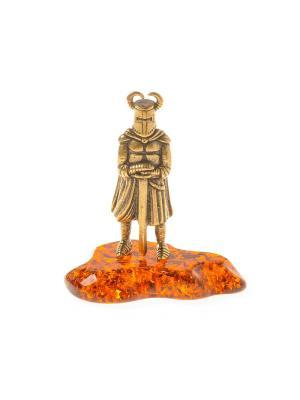 Фигура Рыцарь с мечем и рогами Aztek. Цвет: желтый, коричневый, светло-оранжевый