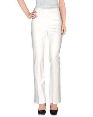 Повседневные брюки 1-ONE. Цвет: слоновая кость