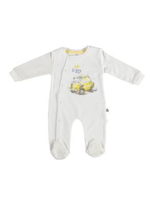 Комбинезон нательный для малыша Bi Baby. Цвет: кремовый