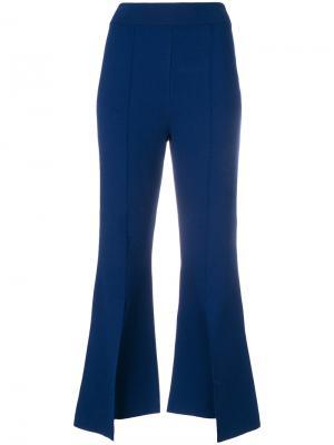 Укороченные расклешенные брюки Stella McCartney. Цвет: синий