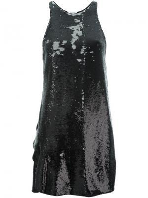 Платье мини с пайетками Vionnet. Цвет: чёрный