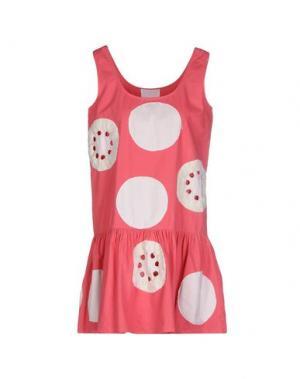 Короткое платье PRINCESSE METROPOLITAINE. Цвет: коралловый