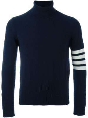 Джемпер с контрастными полосками Thom Browne. Цвет: синий