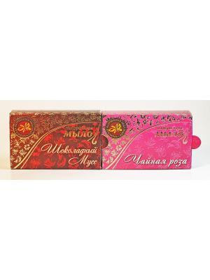 Набор натуральное мыло шоколадный мусс+чайная роза Крымская Натуральная Коллекция. Цвет: белый