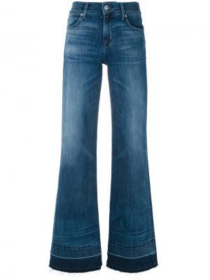 Расклешенные джинсы Hudson. Цвет: синий