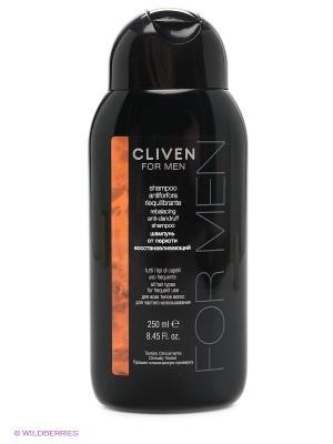 Шампунь от перхоти восстанавливающий для всех типов волос CLIVEN. Цвет: черный