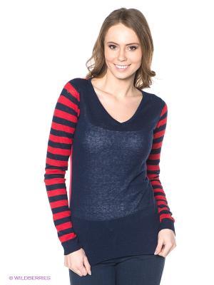 Пуловер Neohit. Цвет: темно-синий, красный