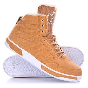 Кеды кроссовки утепленные  H1top Le Brown K1X. Цвет: коричневый
