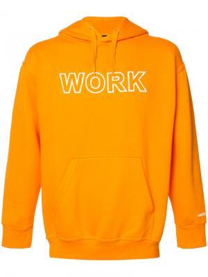 Толстовка с капюшоном Work Andrea Crews. Цвет: жёлтый и оранжевый
