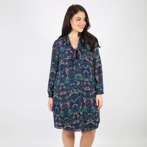 Платье расклешенное средней длины с рисунком KOKO BY. Цвет: набивной рисунок
