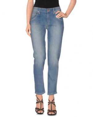 Джинсовые брюки GIRL by BAND OF OUTSIDERS. Цвет: синий