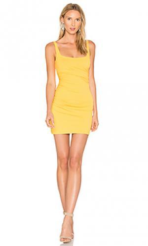 Платье на шлейках со сборками 17 Susana Monaco. Цвет: желтый
