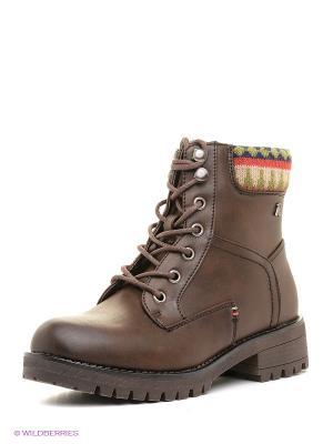 Ботинки Refresh. Цвет: коричневый, темно-бежевый