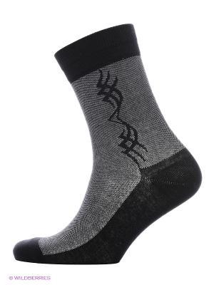 Носки мужские Burlesco. Цвет: черный, серый