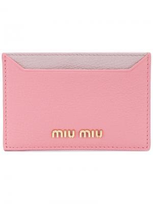 Классическая визитница Miu. Цвет: розовый и фиолетовый