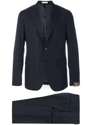 Классический приталенный костюм Boglioli. Цвет: синий