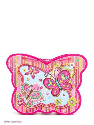 Блокнот в музыкальной сумочке с зеркальцем Centrum. Цвет: розовый