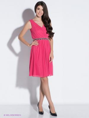 Платье Vera Mont. Цвет: розовый