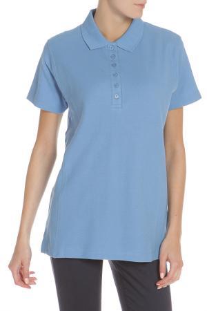 Рубашка Поло HARTWELL. Цвет: голубой