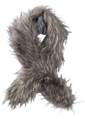 Палантин из искусственного меха (серый) bonprix. Цвет: серый