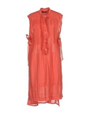 Платье до колена HIGH. Цвет: коралловый