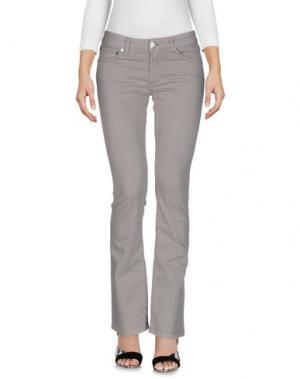 Джинсовые брюки KITON. Цвет: серый