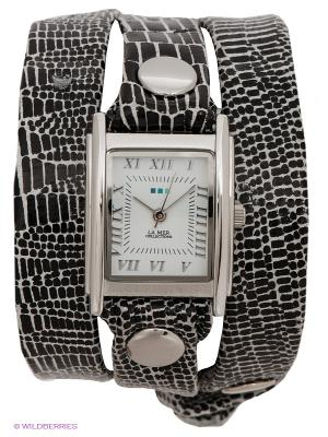 Часы La Mer Collections. Цвет: черный, серебристый, белый