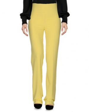 Повседневные брюки LA KORE. Цвет: желтый