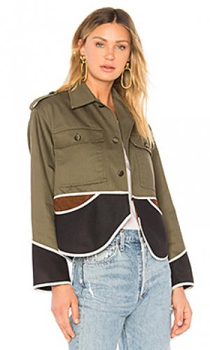 Куртка vintage cropped olive drab Harvey Faircloth. Цвет: военный стиль