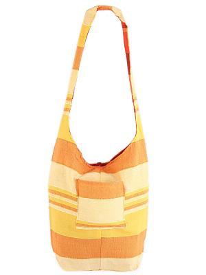 Сумка двухсторонняя ГАНГ. Цвет: светло-желтый,оранжевый