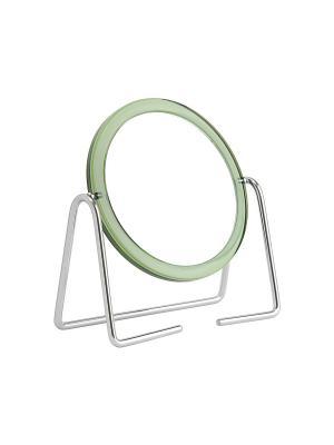 Зеркало Beiron 010S настольное, двустороннее, d 10, 5см, x3. Цвет: зеленый