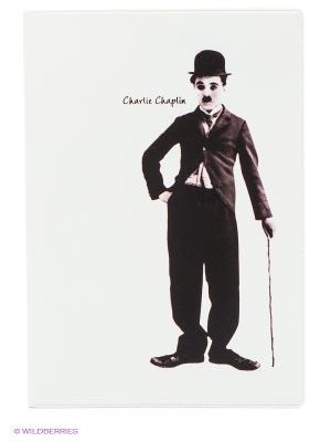 Обложка для паспорта Чарли Чаплин Mitya Veselkov. Цвет: белый, темно-коричневый
