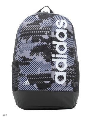 Рюкзак LIN PER BP GR VISGRE/BLACK/WHITE Adidas. Цвет: черный, белый, серый