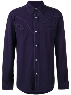 Рубашка Western Htc Hollywood Trading Company. Цвет: синий