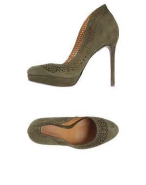 Туфли AERIN. Цвет: зеленый-милитари