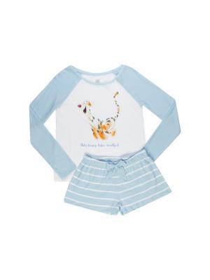 Пижама ТВОЕ. Цвет: голубой, белый