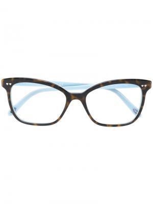 Очки кошачий глаз с черепаховым узором Tiffany & Co.. Цвет: коричневый