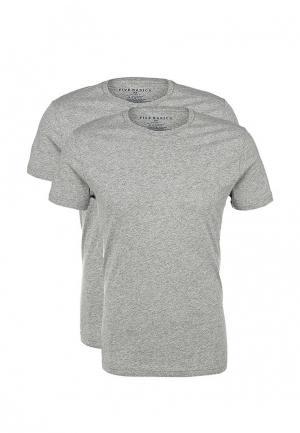 Комплект футболок 2 шт. Five Basics. Цвет: серый
