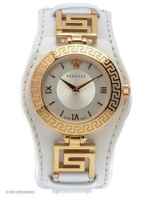 Часы Versace. Цвет: молочный, золотистый