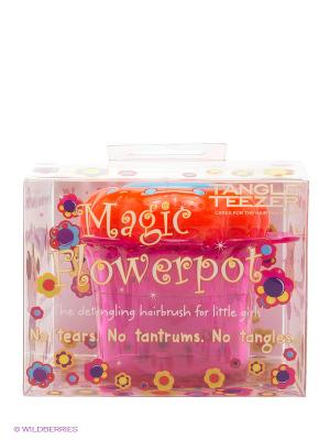 Расческа детская Мэджик Флауэрпот фиолетовая Tangle Teezer. Цвет: фиолетовый, розовый
